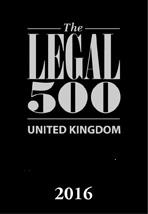 The Legal 500 United Kingdom 2016