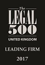 Legal 500 United Kingdom Top Tier 2016