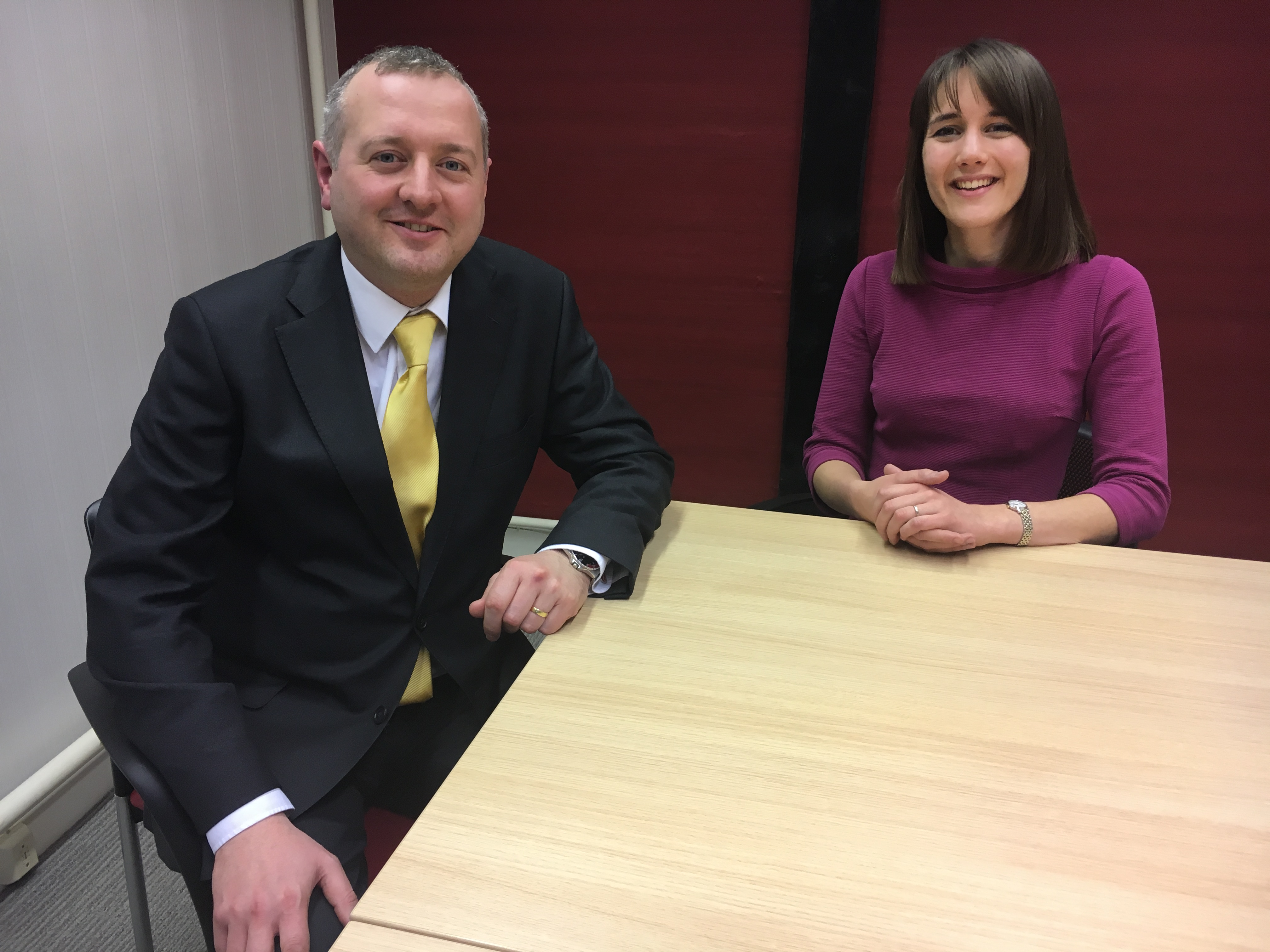 Solicitors Michael Large and Zoe Parker
