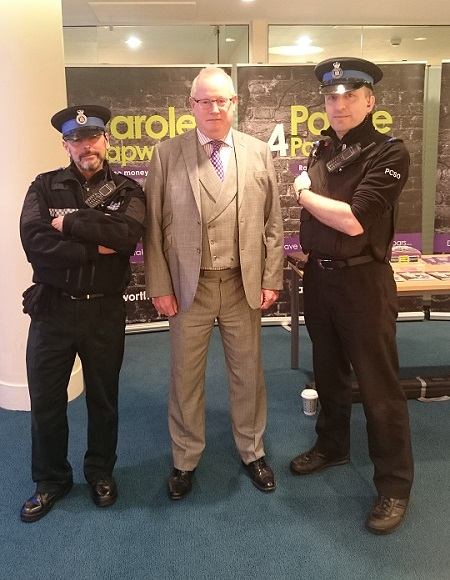 Prettys' CEO, Ian Carr and police